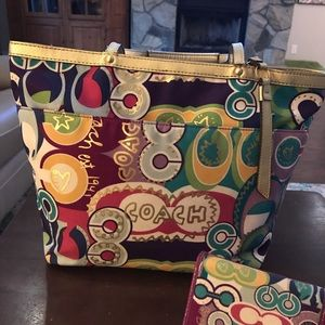 Coach Bags - Coach Legacy Poppy POP Gold Tote *TOTE Only*